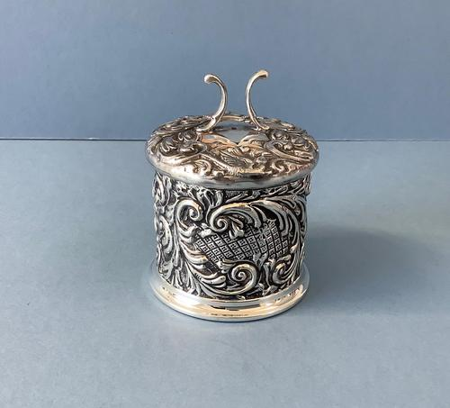Antique Edwardian Silver String or Twine Box (1 of 4)