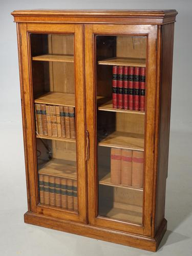Late 19th Century Oak Two Door Bookcase (1 of 6)