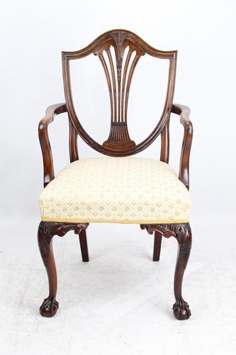 Edwardian Hepplewhite Mahogany Desk Chair (1 of 13)