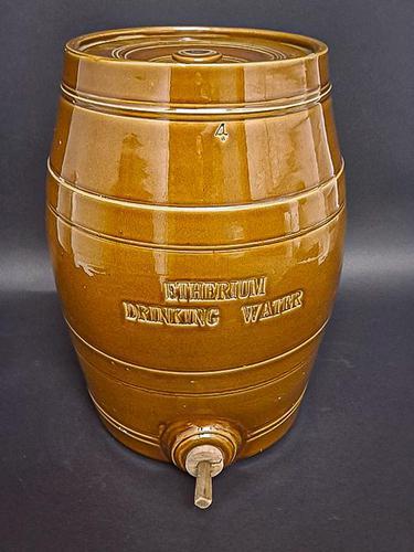 19th Century Etherium Water Crock (1 of 5)
