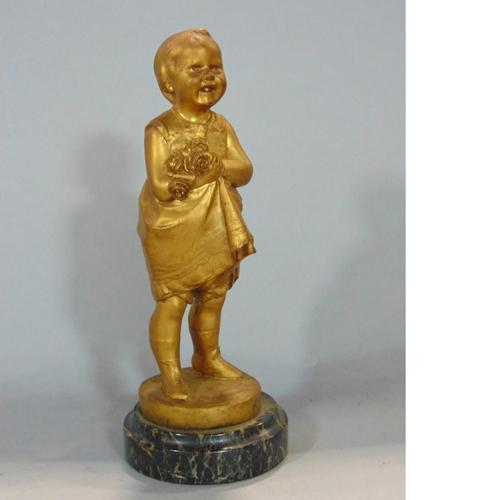 Jose Dunach - Pretty & Well Modelled French Bronze Sculpture c.1920 (1 of 3)