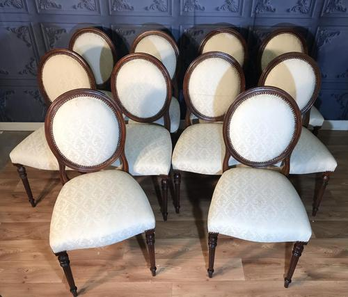 Set of Ten Mahogany Dining Chairs (1 of 10)