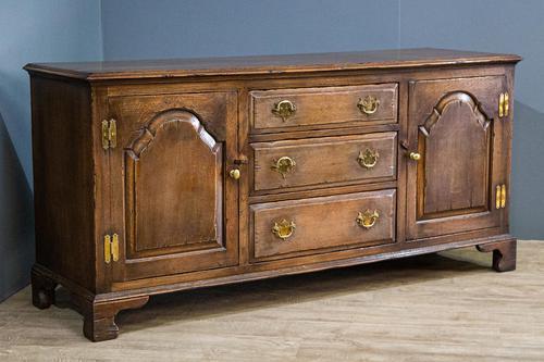 Carved Oak Dresser Base (1 of 8)