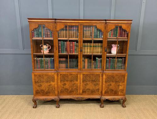 Shapland & Petter Burr Walnut Bookcase (1 of 23)