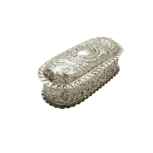 Antique Victorian Sterling Silver Ring Box 1895 (1 of 9)