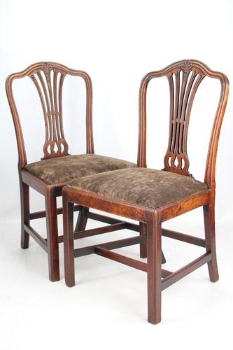 Pair of Antique Georgian Mahogany Side Chairs (1 of 13)