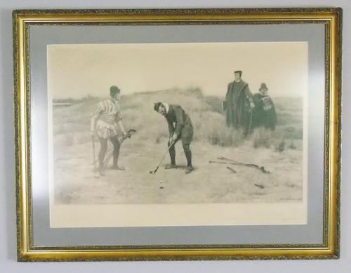 Sabbath Breakers' Antique Golf Engraving by J. C. Dollman, 1896 (1 of 6)