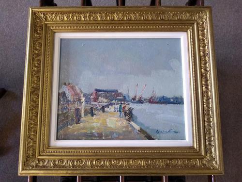 Riverside Gorleston by Geoffrey Chatten, R.B.A (1 of 4)