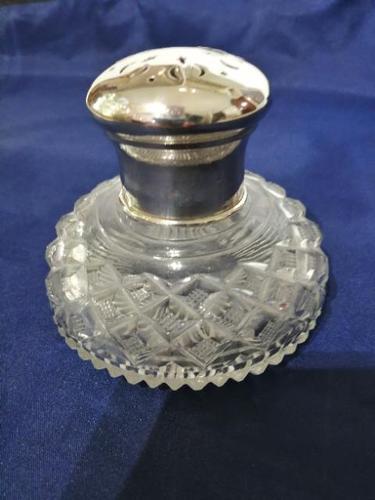 Fine Quality Silver & Cut Glass Powder Bowl (1 of 6)