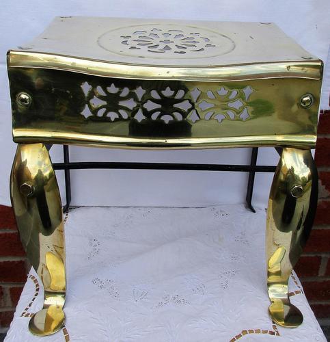 Antique English Victorian Brass & Steel Footman (1 of 6)