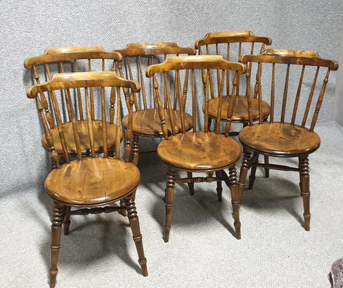 Good Set Six Kitchen Dining Chairs (Ibex) (1 of 7)