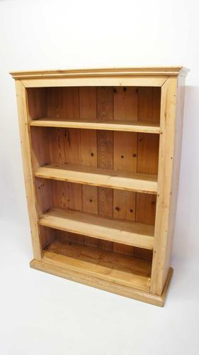 Early 20th Century Pine Open Bookcase (1 of 21)