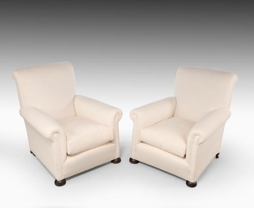 Early 20th Century Pair of Mahogany Framed Tub Chairs (1 of 4)