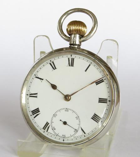 Antique Swiss Silver Pocket Watch, 1919 (1 of 5)