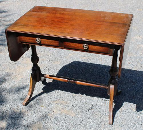 1960s Mahogany Sofa Table with Drawers (1 of 3)