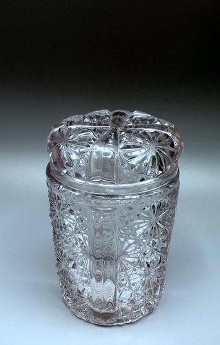English Victorian Glass Pickle Jar c.1891 'G Davidson - Gateshead' (1 of 7)