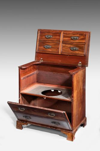 George III Period Mahogany Lift-top Commode (1 of 4)