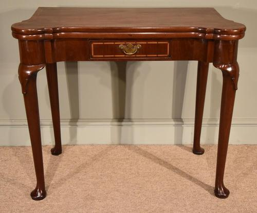 Early 18th Century Inlaid Pad Foot Card Table (1 of 9)