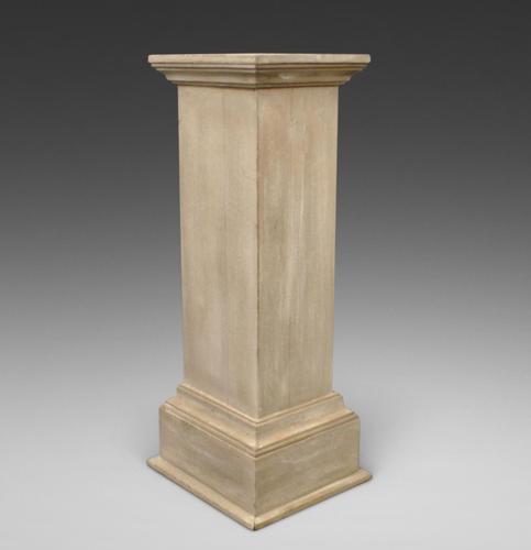Late 19thc Limed Hardwood Pedestal (1 of 6)