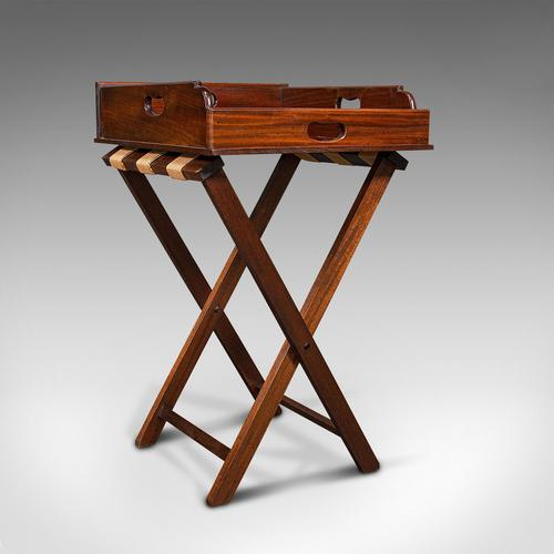 Antique Butler's Stand, English, Mahogany, Serving Tray, Rest, Victorian c.1900 (1 of 12)
