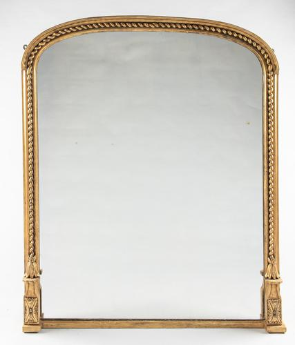 Lovely 19th Century Large Victorian Gilt Overmantle Mirror (1 of 6)