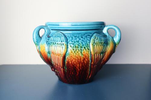 Aesthetic Movement / Arts & Crafts Ault art-pottery tri-Handled Jardinière c.1895 (1 of 27)