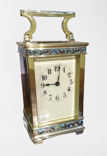 Attractive Small Brass French Carriage Clock (1 of 7)