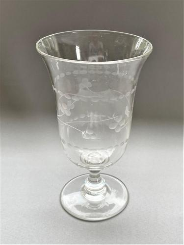 Charming Late Victorian Etched Celery Vase (1 of 4)