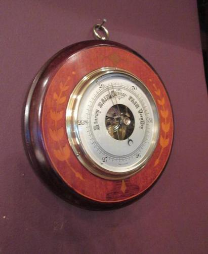High Quality Antique Sheraton Inlaid Barometer (1 of 6)
