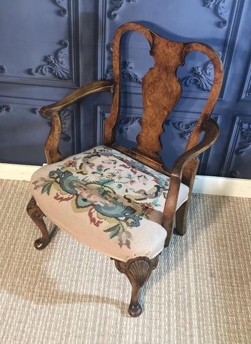 Quality Burr Walnut Child's Chair (1 of 13)