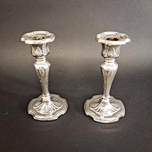 Edwardian Silver Candlesticks (1 of 6)