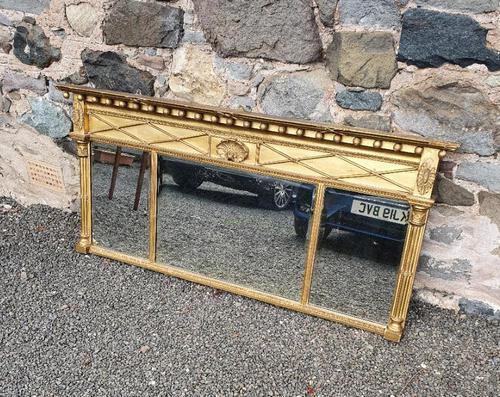 Fine Regency Giltwood Overmantle Mirror (1 of 6)