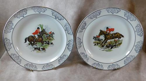 Woods Hunting Scene Plates (1 of 6)