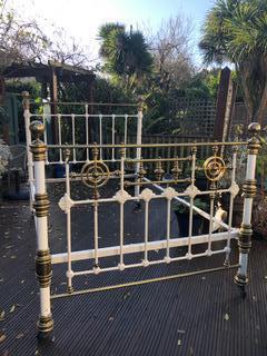 Queen / Double Victorian Brass Bed (1 of 2)