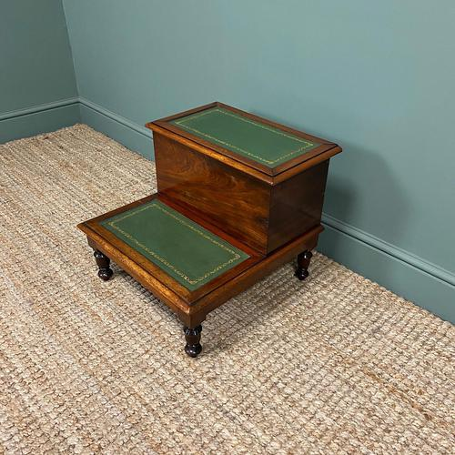 Stunning Victorian Mahogany Antique Library Steps (1 of 4)