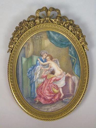 Beautiful Miniature Painting after Boucher Bathtime (1 of 6)