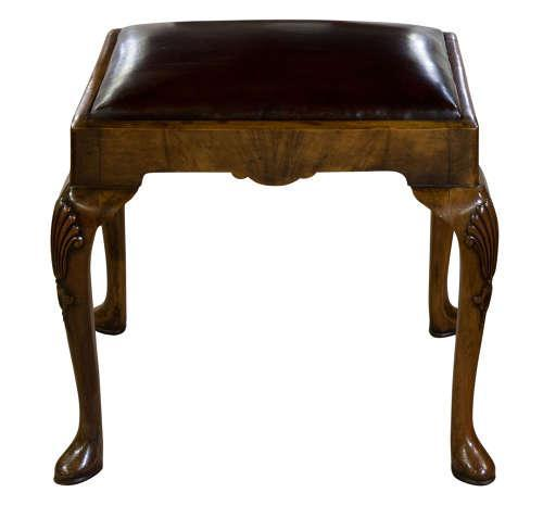 Walnut Queen Anne Style Stool c.1910 (1 of 5)