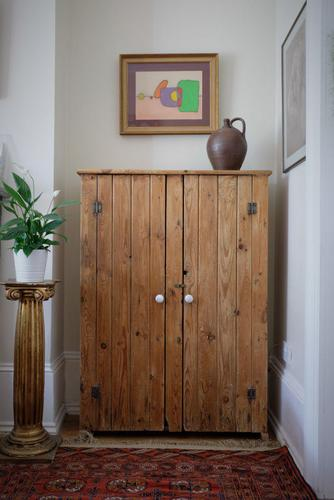 Tall Antique Pine Pantry Cupboard (1 of 15)