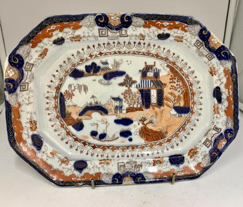 Antique Masons Ironstone Pottery Platter c.1845 (1 of 5)