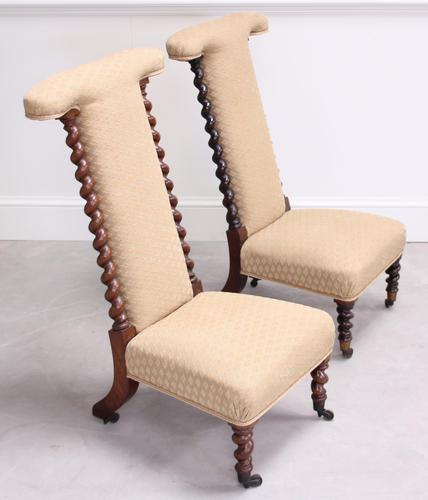 Pair of Victorian Rosewood Prie Dieu Chairs (1 of 3)