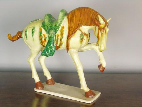 Early 20th Century Chinese Tang Horse Sancai Glaze (1 of 6)