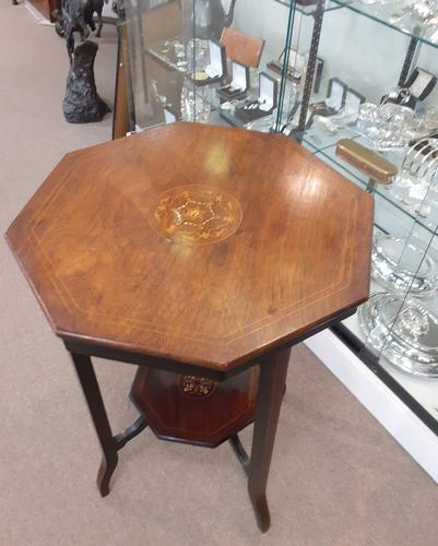 Edwardian Rosewood Octagonal Table (1 of 5)