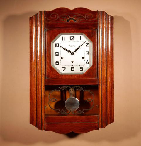 Art Deco Westminster Vedette Carillon Oak Wall Clock French c.1935 (1 of 13)