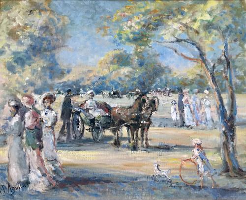 Baron Michael D'Aguilar Oil Painting  'DANS LE BOIS' (1 of 3)