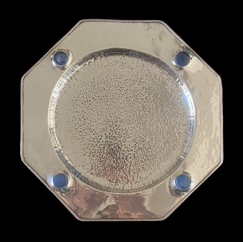 Antique Arts & Crafts Silver Plate on Copper Ruskin Tray c.1910 (1 of 9)