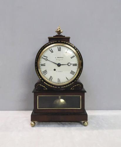 English George IV Mahogany Bracket Clock by L.Marks (1 of 8)