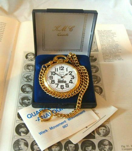 Vintage Pocket Watch 1970s Railroad 12ct Gold Plated Swiss & West Germany Nos (1 of 12)