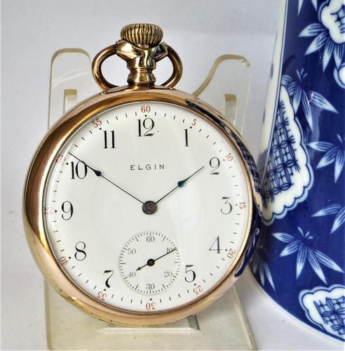 Antique 1911 Elgin Stem Winding Pocket Watch (1 of 4)