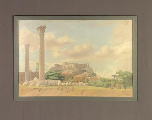 Oil on board the acropolis James Eddie (1 of 6)