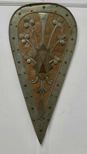 19th Century French Arts and Crafts Hand Made Kite Shield (1 of 6)